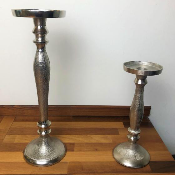 Kerzenleuchter, 10x10x25 cm, silber   #2