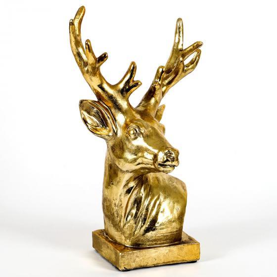 Edler Deko-Hirschkopf, 28x17x40 cm, gold   #2