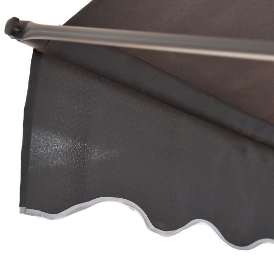 Klemmmarkise 300x300 cm, schwarz | #2