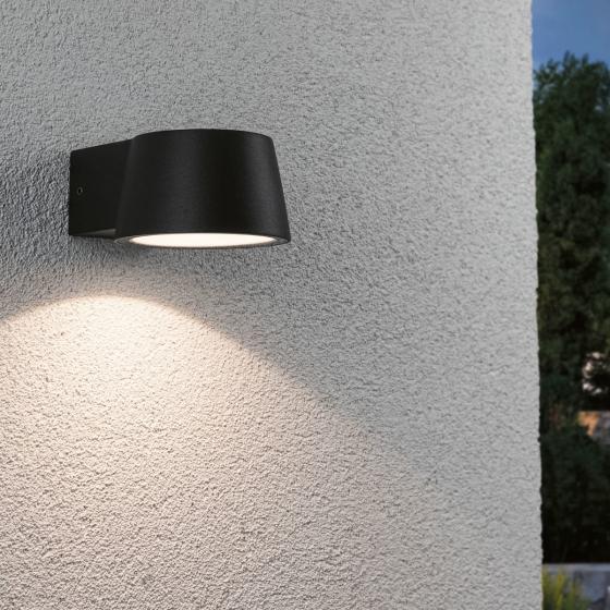 LED Outdoor Wandleuchte Capea, 3000K 6W 230V IP44, Alu, schwarz   #2