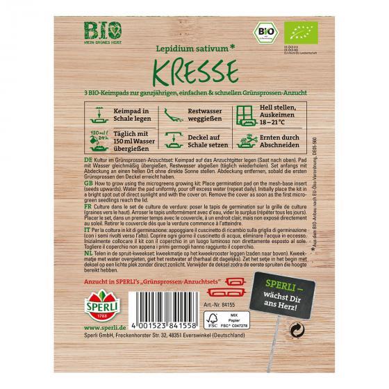 MicroGreen Nachfüllpad BIO Kresse-Grünsprossen | #2