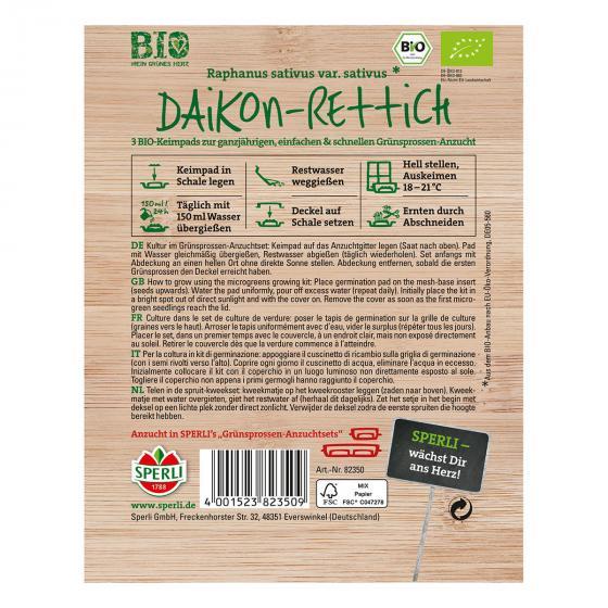 MicroGreen Nachfüllpad BIO Daikon-Rettich-Grünsprossen | #2