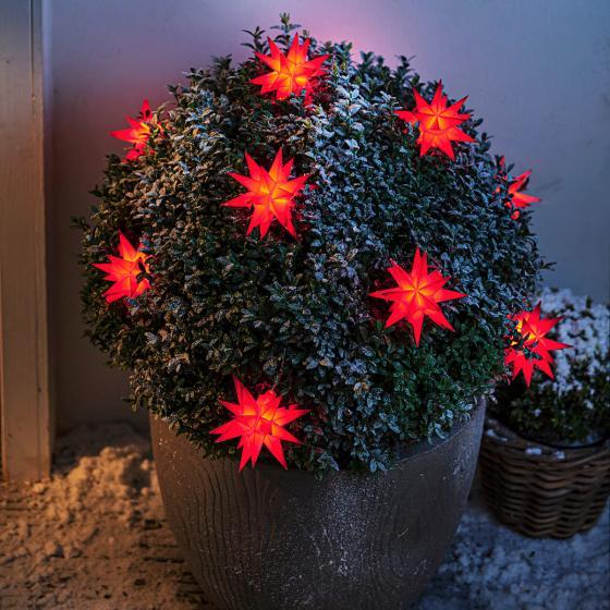LED-Lichterkette Weihnachtstern, rot | #2