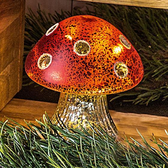 Glas-Pilz mit LED-Beleuchtung , 12 cm   #2