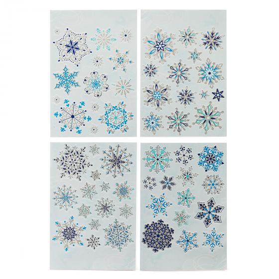 Fenstersticker Eiskristalle blau, 57-teilig | #2