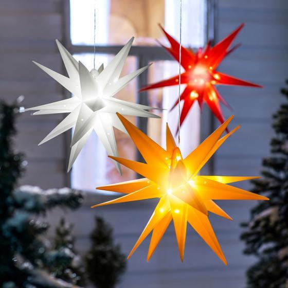 LED-Außenstern Weihnachten, orange   #2