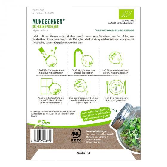 BIO Keimsprossen Mungbohnen, 30 g | #2