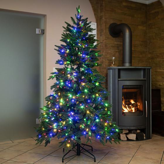 Künstlicher Weihnachtsbaum Fichte, mit Beleuchtung, 210 cm   #2