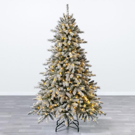 Künstlicher Weihnachtsbaum Fichte, Schneeoptik, mit Beleuchtung, 150 cm   #2
