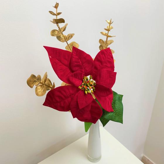Kunstpflanze Poinsettia, rot   #2