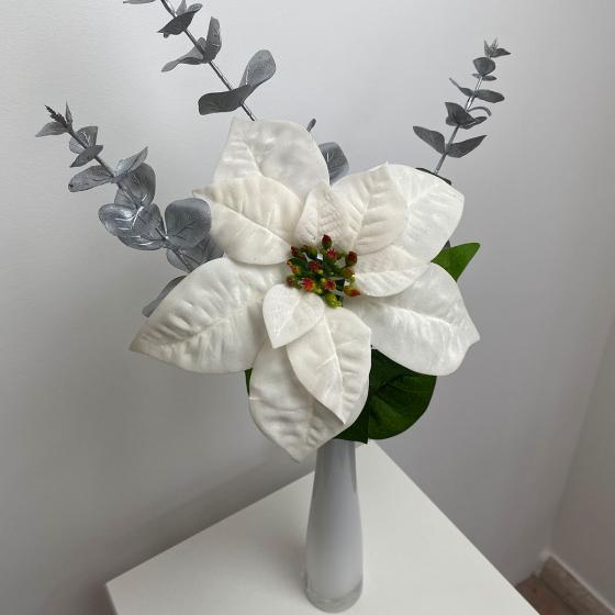 Kunstpflanze Poinsettia, weiß   #2