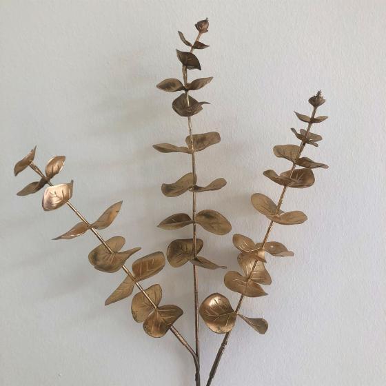 Kunstpflanze Eukalyptuszweig, gold | #2