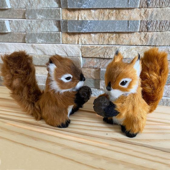 Eichhörnchen-Set mit Nuss | #2