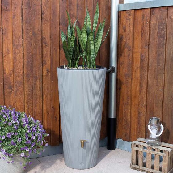 Regenspeicher & Pflanzschale Vaso 2in1, 220L, grau | #2