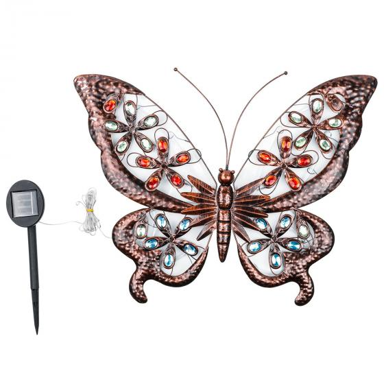 LED Wandlicht Schmetterling, Solarbetrieben | #2