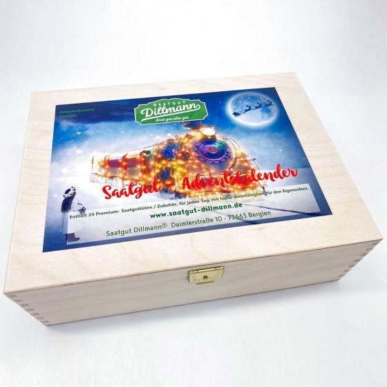 Saatgut-Holzbox Adventskalender Polarexpress | #2