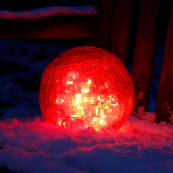 Glaskugel Weihnachtsglanz, rot 15 cm | #2