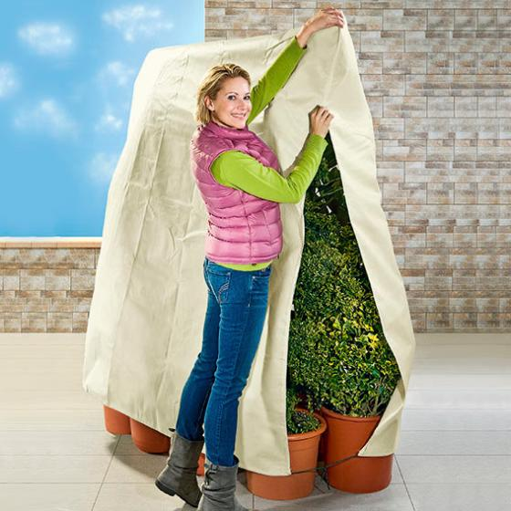 Maxi-Pflanzenschutz All-in-One, 200x240 cm, Polypropylen, creme | #2