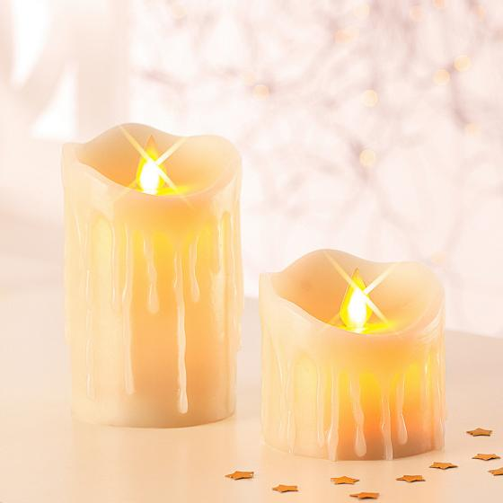 LED-Echtwachskerzen Kerzenzauber, 2er-Set | #2