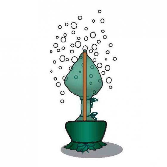 Winterschutzhülle, 100 cm, Polypropylen, olivgrün | #2