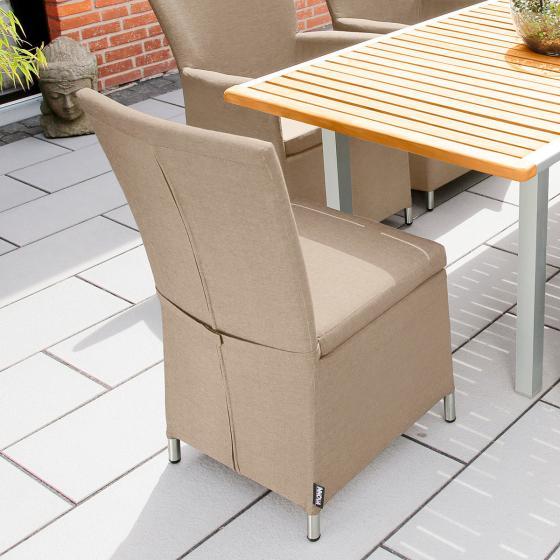 Outdoor Sessel Daisy ohne Armlehnen beige | #2