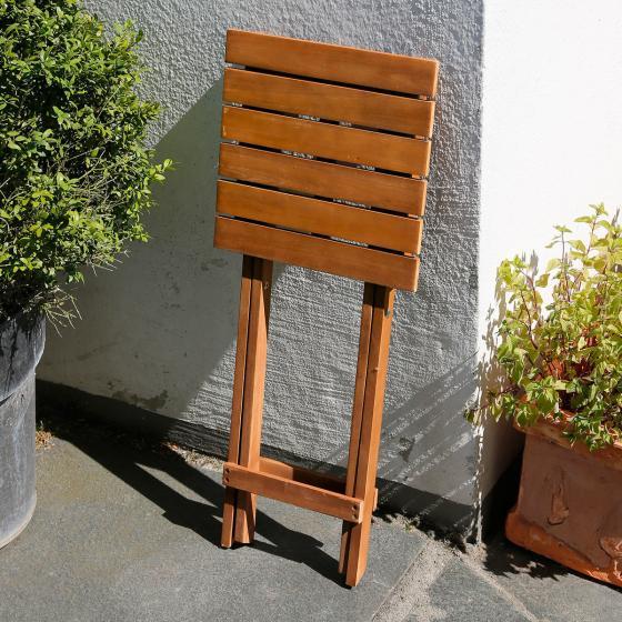 Pflanzenhocker Akzent aus Akazienholz, klappbar | #2