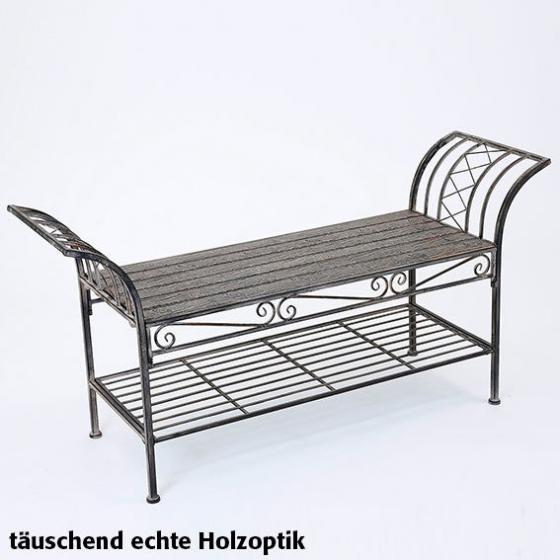 Sitzbank Woodwork Charme aus Eisen in Holzoptik | #2