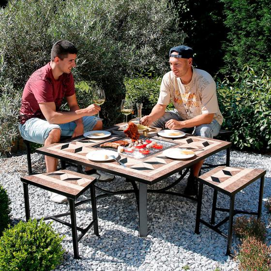 Mosaik-Grill-Sitzgruppe | #2