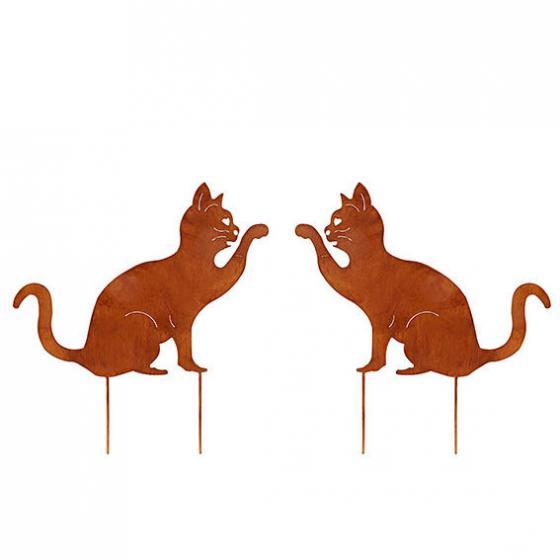 Gartenstecker Katzen, 2er-Set | #2