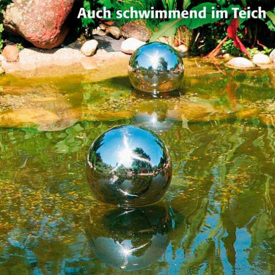 Edelstahl-Dekokugel 10 cm | #2