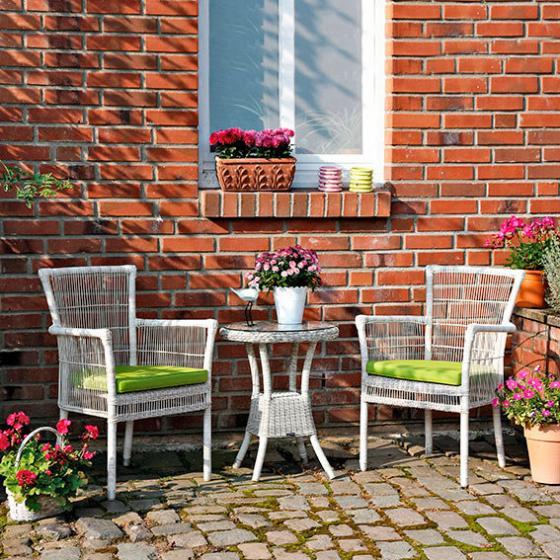 outdoor rattan beistelltisch inkl glasplatte von. Black Bedroom Furniture Sets. Home Design Ideas