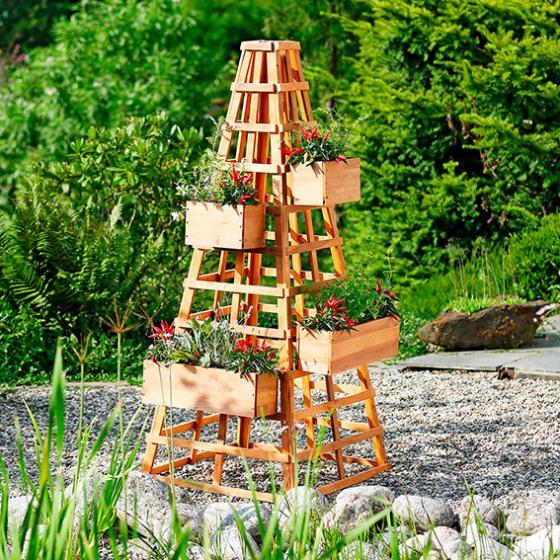 Großer Pflanzkasten für Rankturm -  Rankgerüst Landhof | #2