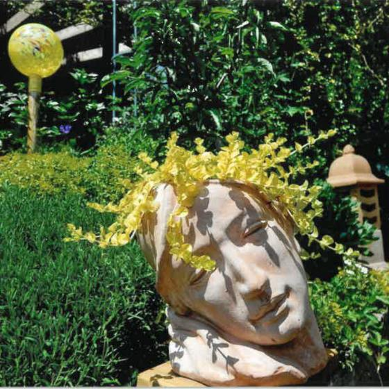 Terracotta-Pflanzgefäß Frauenkopf | #2