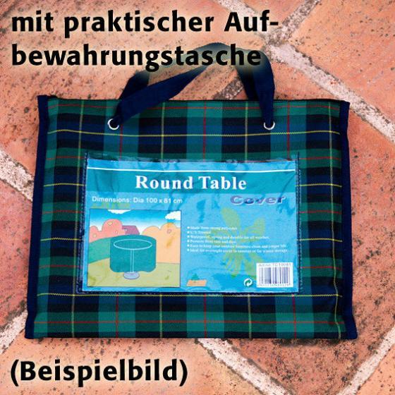 Tisch-Schutzhülle, grün, rund, groß | #2