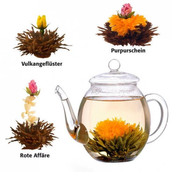 Erblüh-Teekugeln Schwarztee, 6 Stück | #2