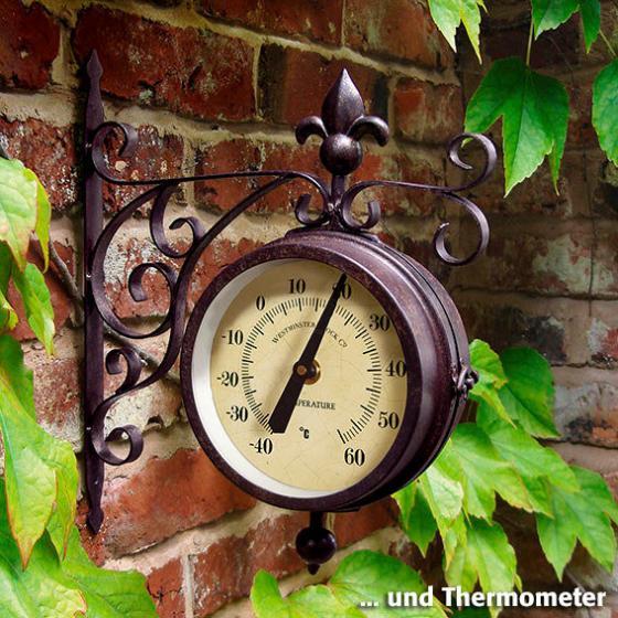 Garten-Uhr-Thermometer Old York | #2