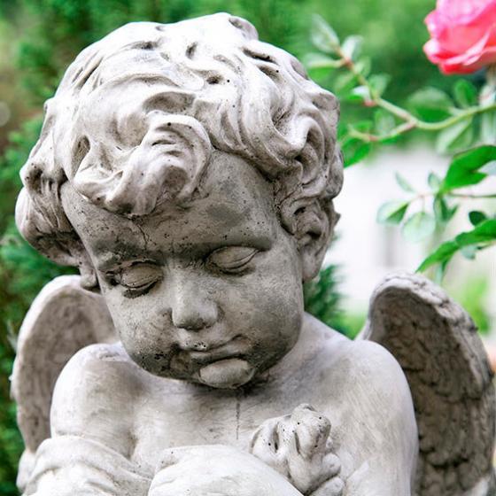 Gartenfigur Träumender Engel | #2