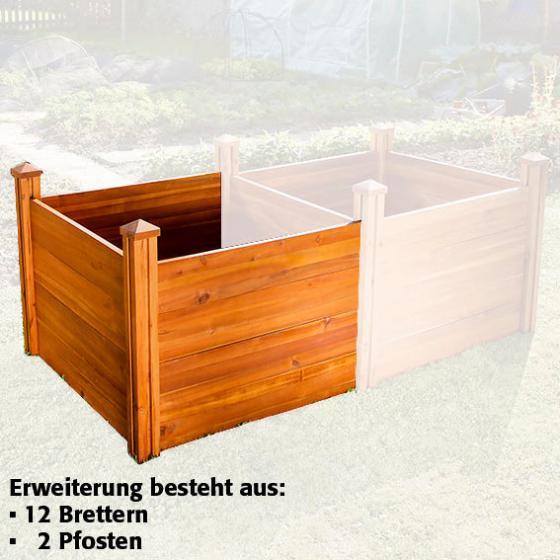 Hochbeet Extra Tief - Erweiterung, Akazienholz, natur, 91x91x60 cm | #2