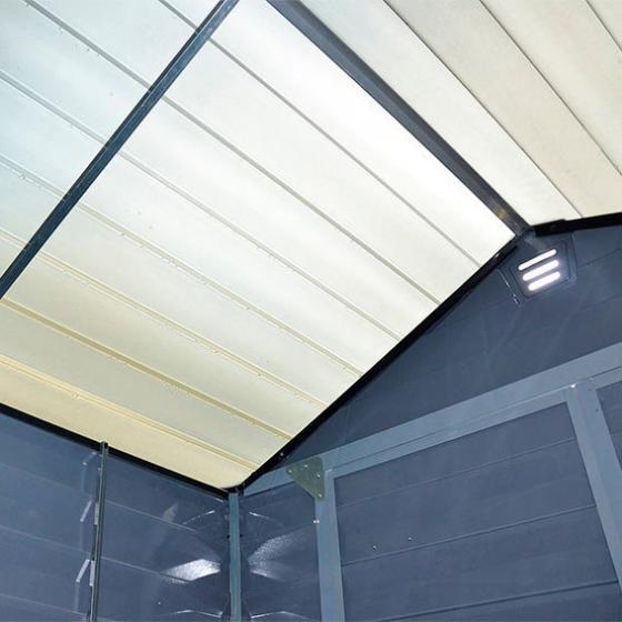 Skylight Gartenschuppen 6 x 12' grau, inkl. Boden | #2