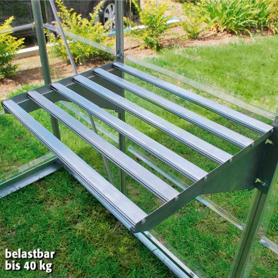 Aluminium Gewächshausregal inkl. 3 Clips, 58 x 42 x 20 cm, silber | #2