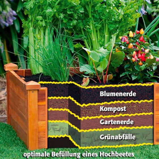 Hochbeet Klassik sechseckig, stapelbar, Akazienholz, 100x80x29 cm | #2
