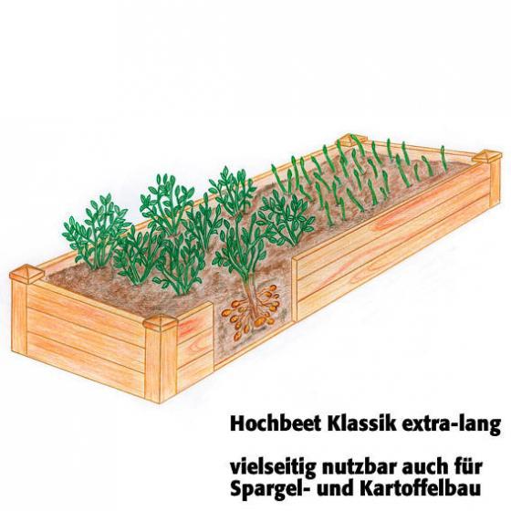 Hochbeet Klassik extra-lang, Akazienholz, 240x60x20 cm | #2
