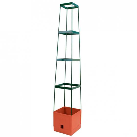 Tomaten-Tower, mit eckiger Rankhilfe, 25x25x125 cm | #2