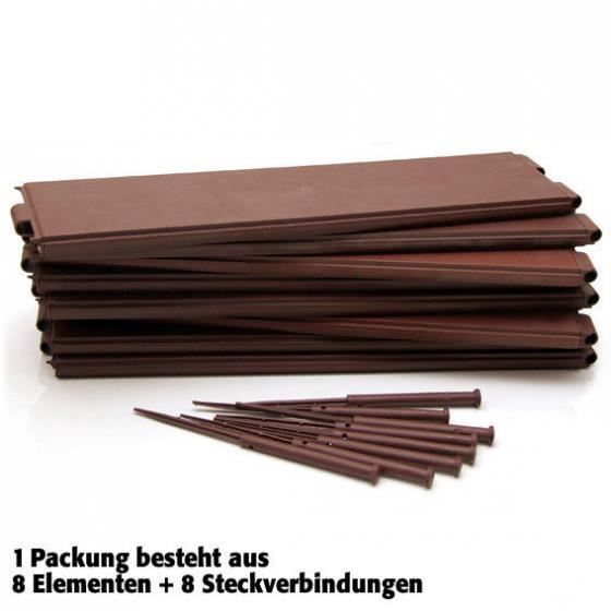 Hochbeet Flexi 3er-Set, 24 Module, 57,5x13x2 cm, Kunststoff, braun | #2