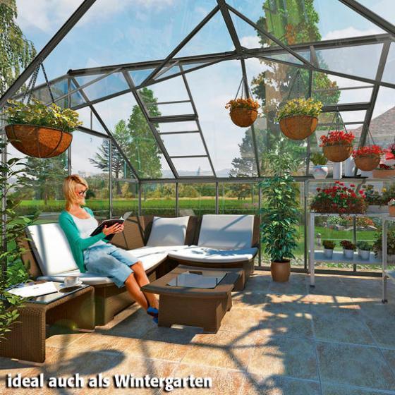 Gewächshaus Victory Orangerie inkl. Stahlfundament, 305 x 365  x  - 10,5 qm, anthrazit | #2