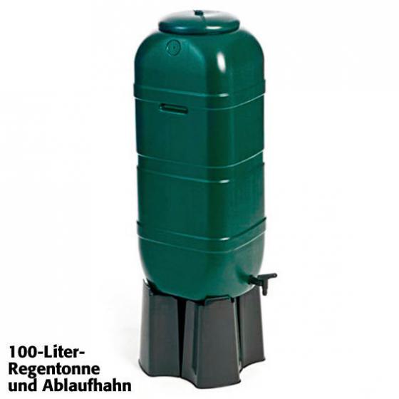 Regentonne 100 Liter inkl. Stand, Ablaufhahn und Füllautomat | #2