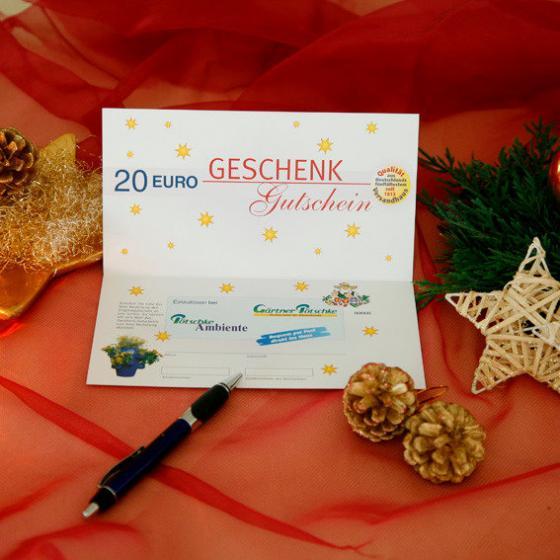 g rtner p tschkes weihnachts geschenk gutschein 20 euro. Black Bedroom Furniture Sets. Home Design Ideas
