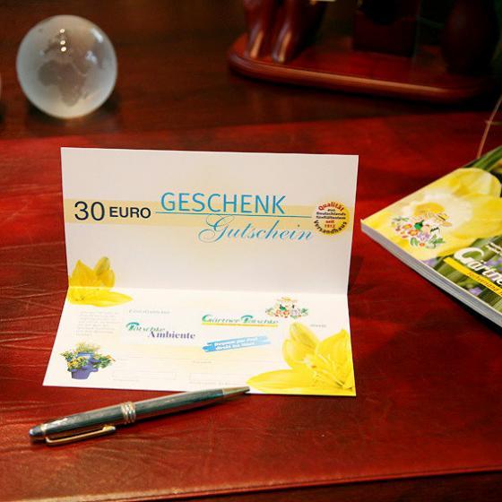g rtner p tschkes geschenk gutschein 30 euro von g rtner p tschke. Black Bedroom Furniture Sets. Home Design Ideas