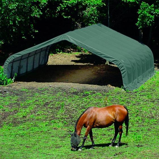 ShelterLogic Weidezelt Run-in-Shed 40,87m² inkl. Sturmanker | #3