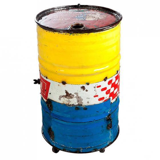 Eiskühler Tonne, Unikat aus recycelten Ölfässern | #3